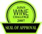 "Seal of Approval ""Japan Wine Challenge"""