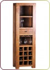 "Living in Style - Weinregal ""Tower"" dunkelbraun aus Massivholz"